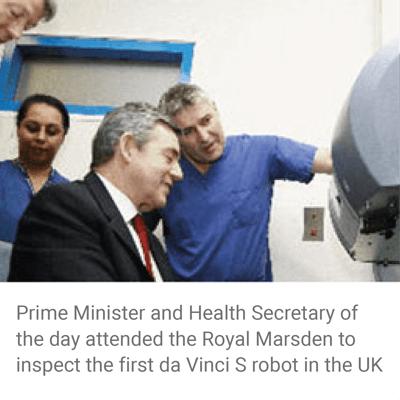da vinci robot - prostate surgery - gordon brown