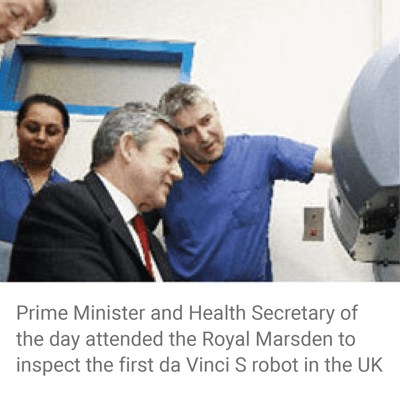 da vinci robot - prostate surgery - gordon brown