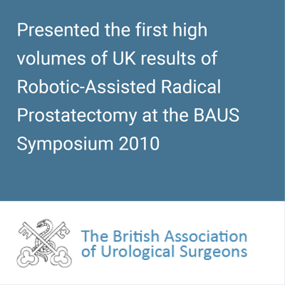 BAUS - Robotic prostate surgery results in UK