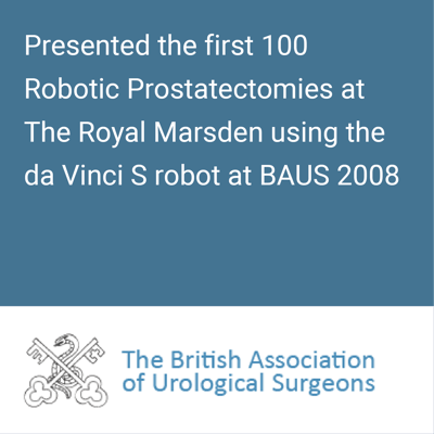 baus 2008 first 100 robotic prostatectomies