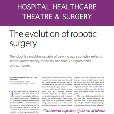 Evolution of Robotic Surgery